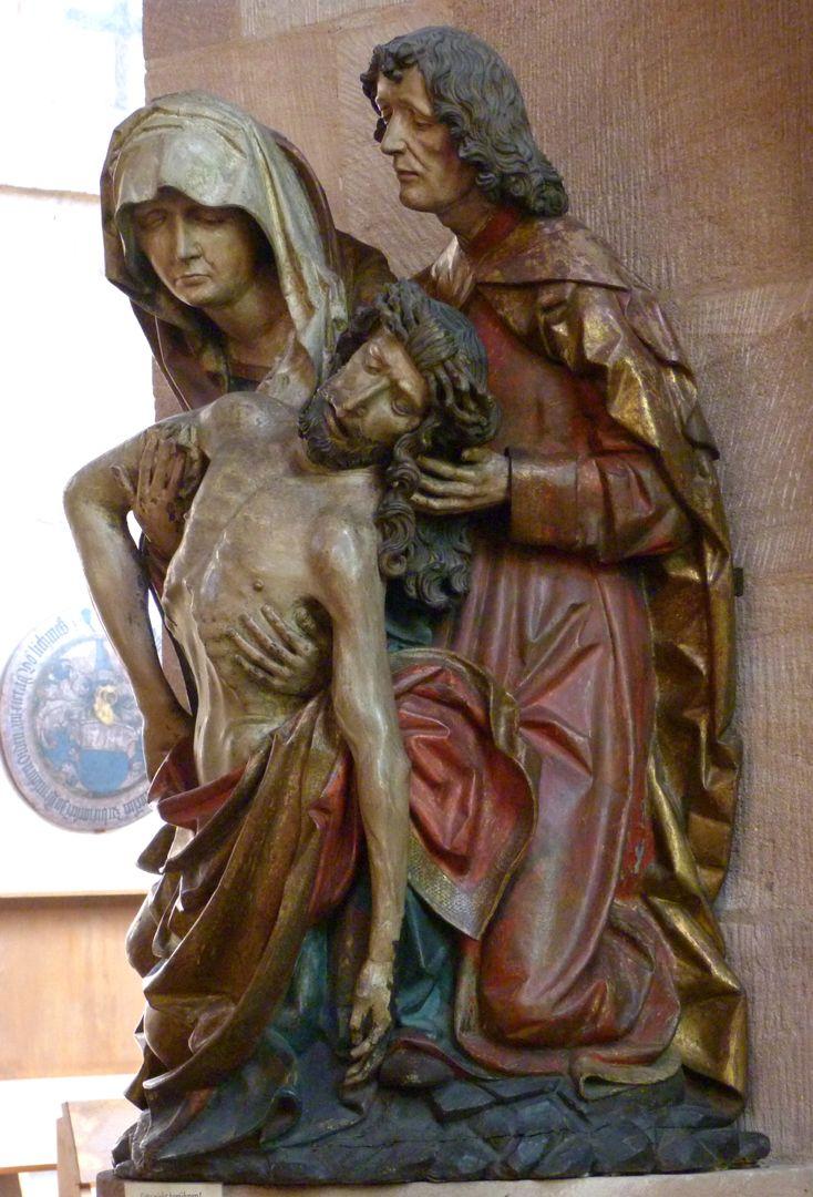 Große Pietà seitliche Ansicht von rechts