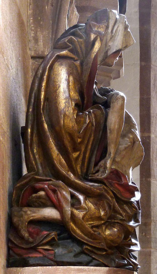 Große Pietà linke Seite
