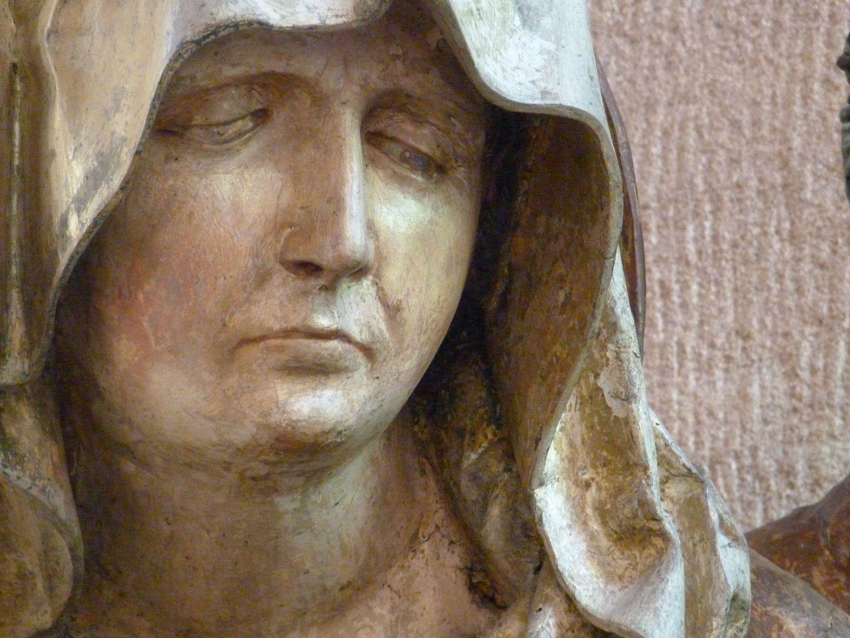 Große Pietà Maria, Kopf