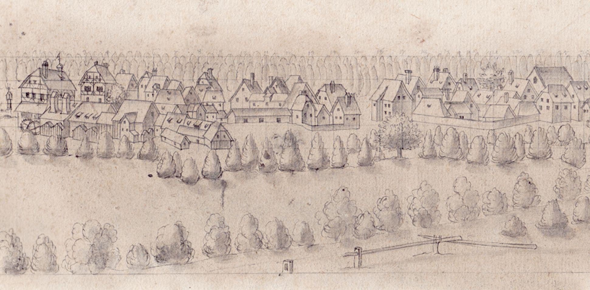 Blick auf Fürth Detailansicht Fürther Häuser