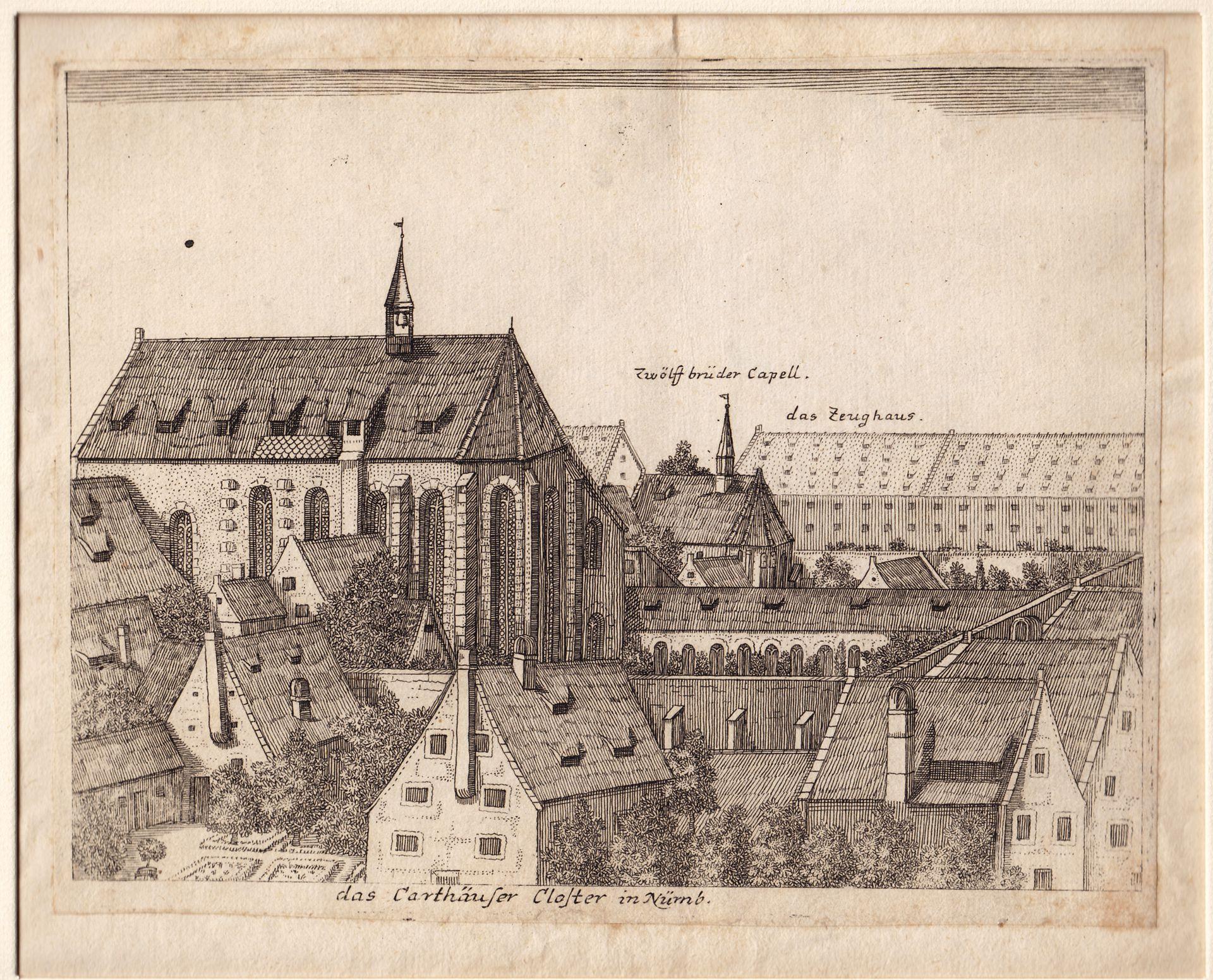 """Das Carthäuser Closter in Nürnberg"" Gesamtansicht"