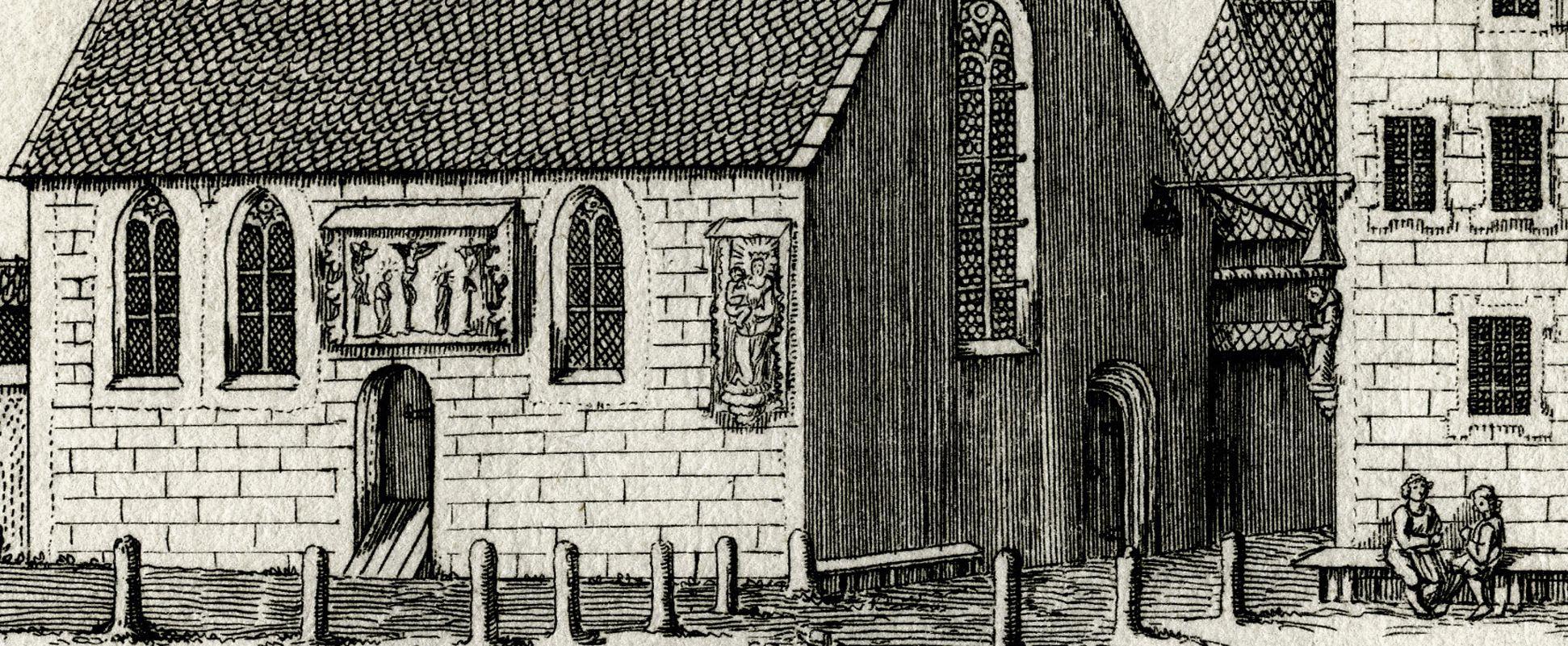 St. Jacob Schuel an dem Mendlischen Zwölfbrüderhauss beÿ Carthausen Baugruppe, Detail