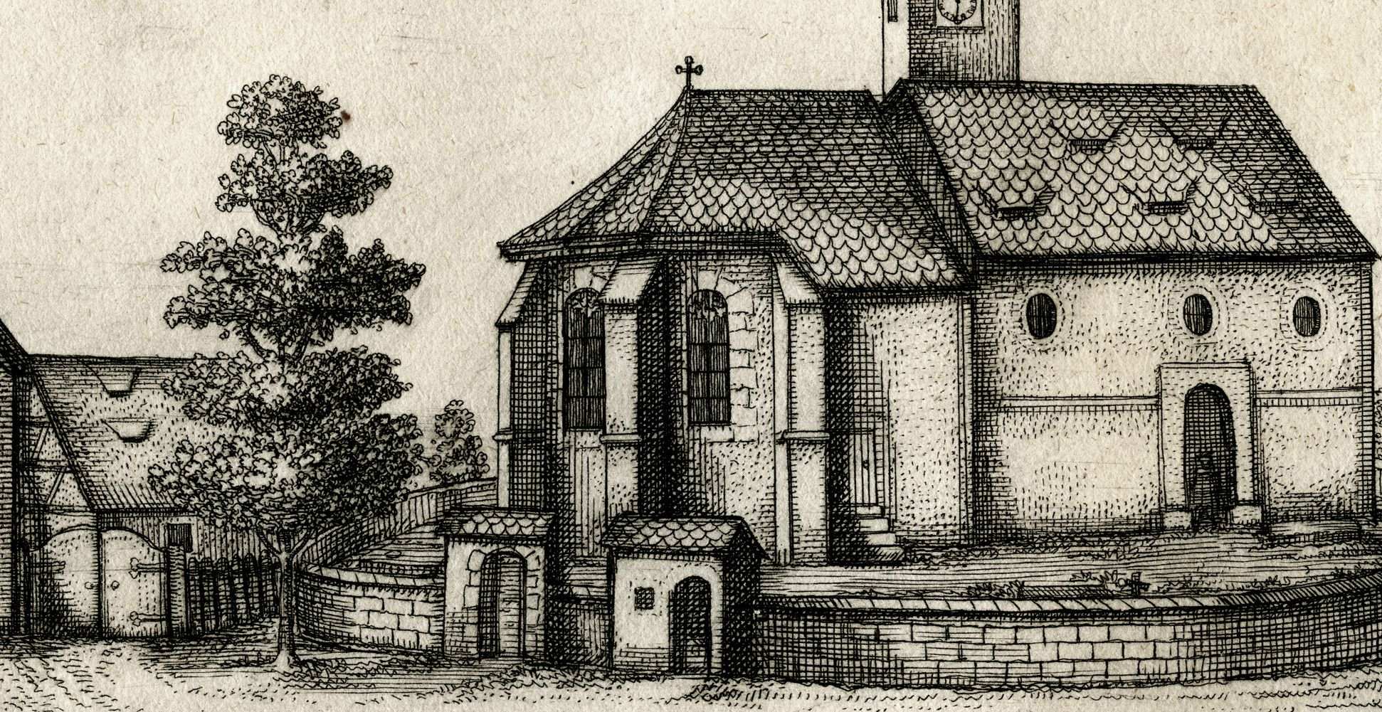 Die Kirchen in Rickerses-dorf.   bej  N: Kirchhof, Detail