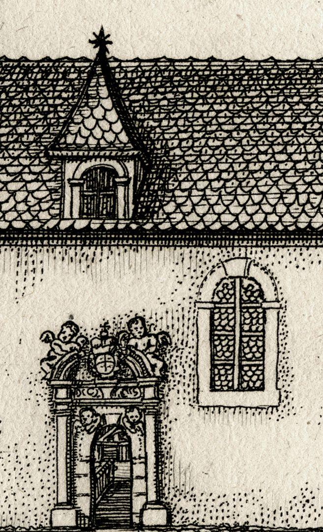 die Kirchen in Zürndorff Kirche, Detailansicht mit Portal