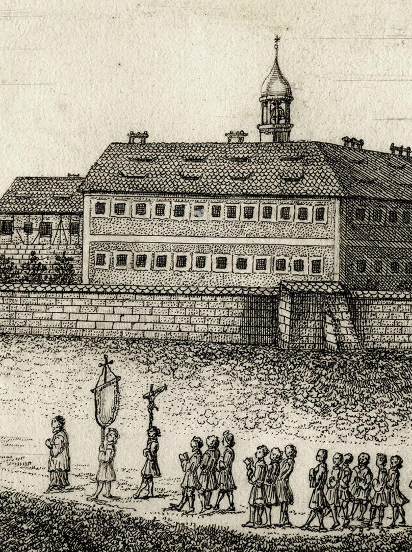 Marienburg, bej Klein Amberg.  3 meil von Nürnb. 1708 Prozession
