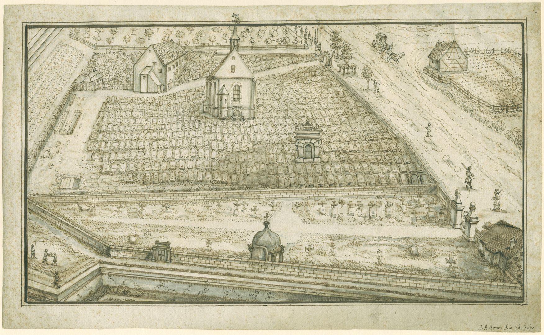 Rochusfriedhof<p>um 1717<br></p>
