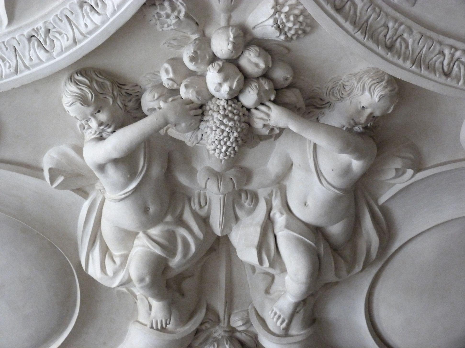 Stuckdecke im Fembohaus Mittlerer südliche Deckenpartie, Detail