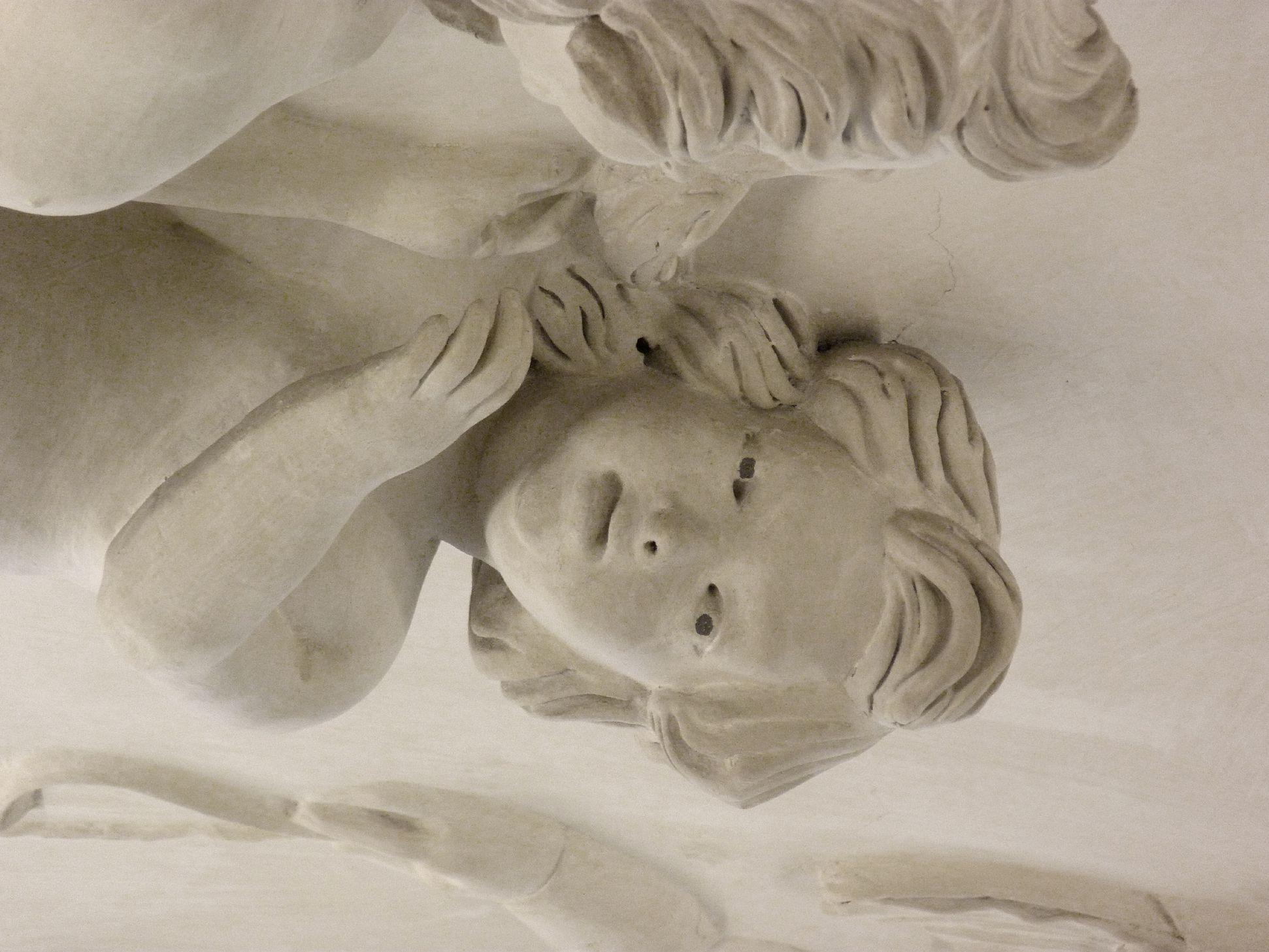 Stuckdecke im Fembohaus Deckenfeld, Detail