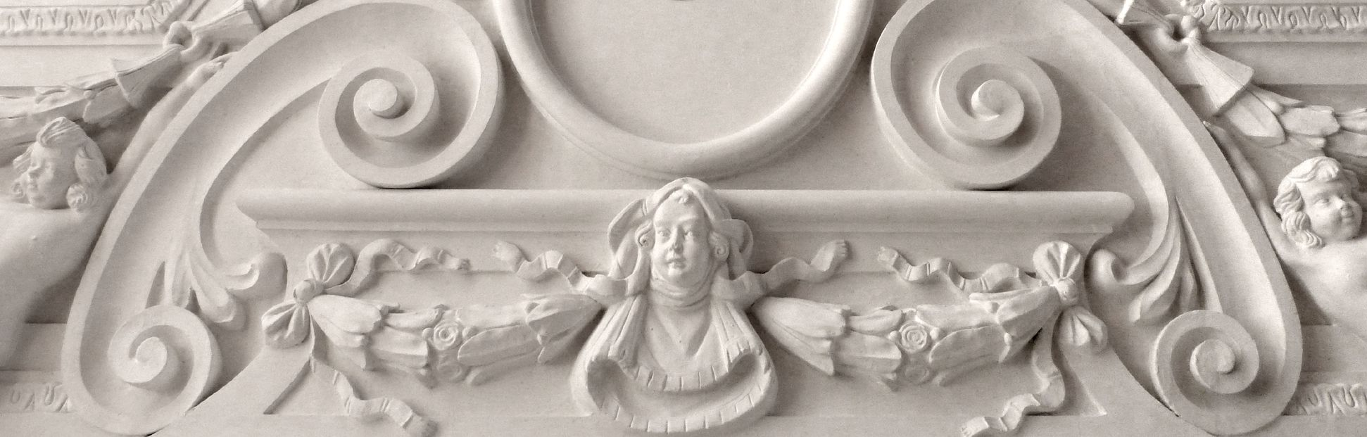 Brentano Saal Detail der Deckenschmalseite