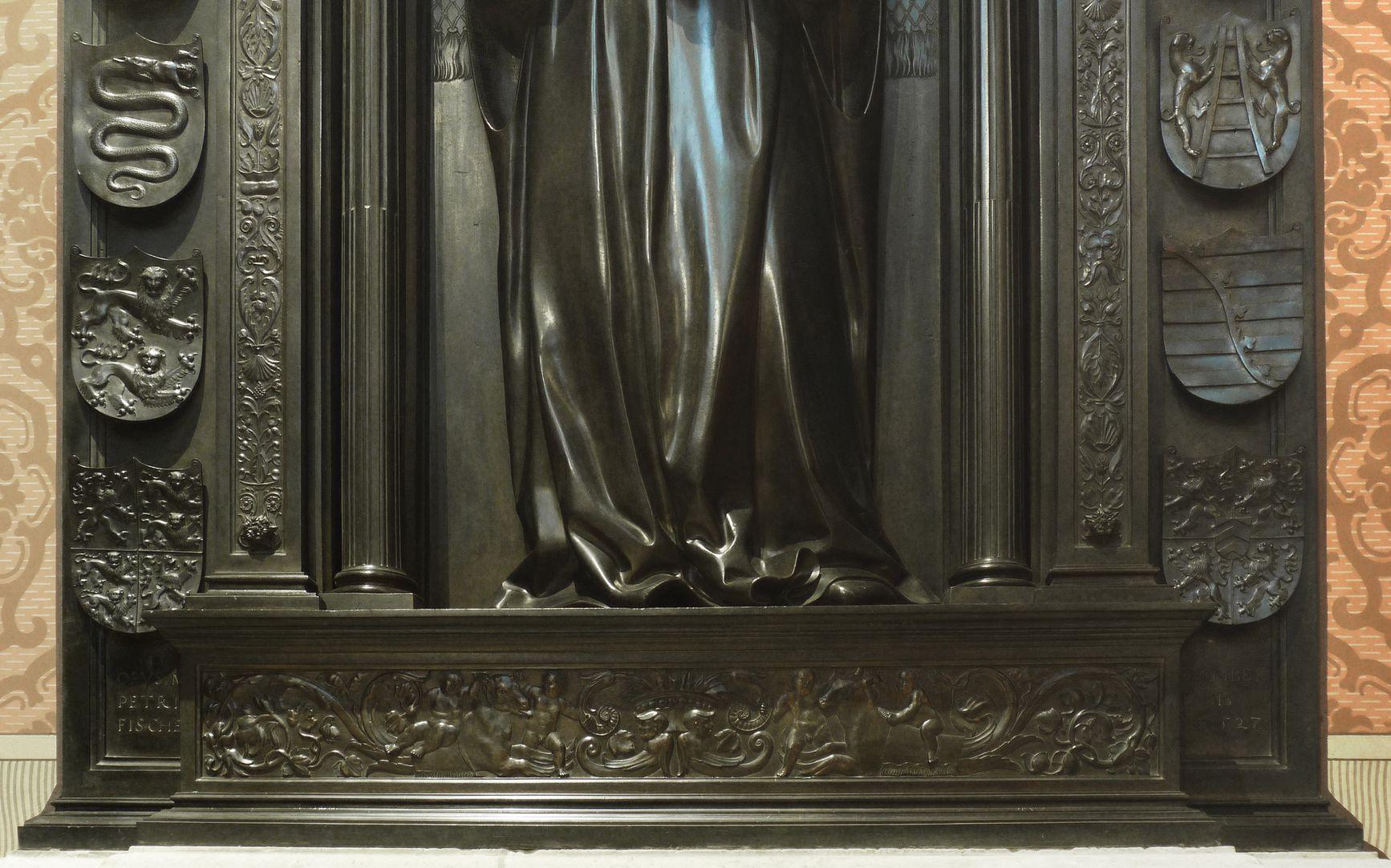 Grabmal Friedrichs des Weisen (Wittenberg) Grabplatte, Unterteil