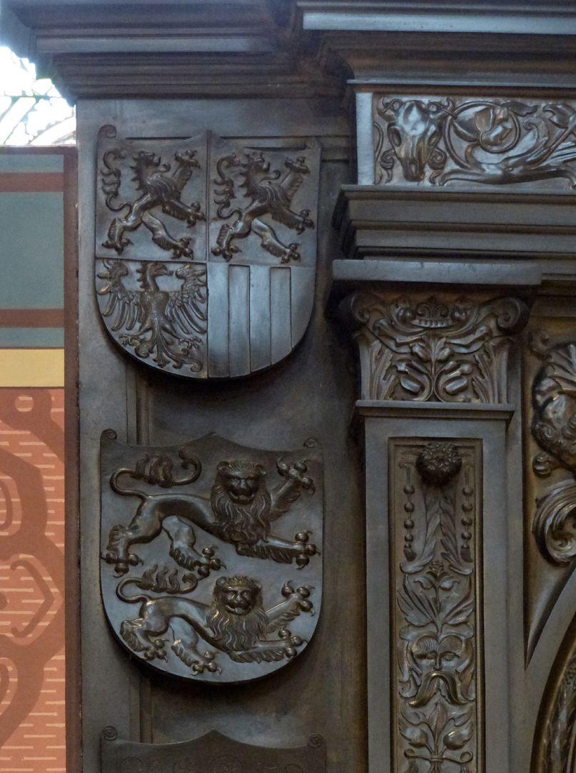 Grabmal Friedrichs des Weisen (Wittenberg) Grabplatte, oberer linker Bereich