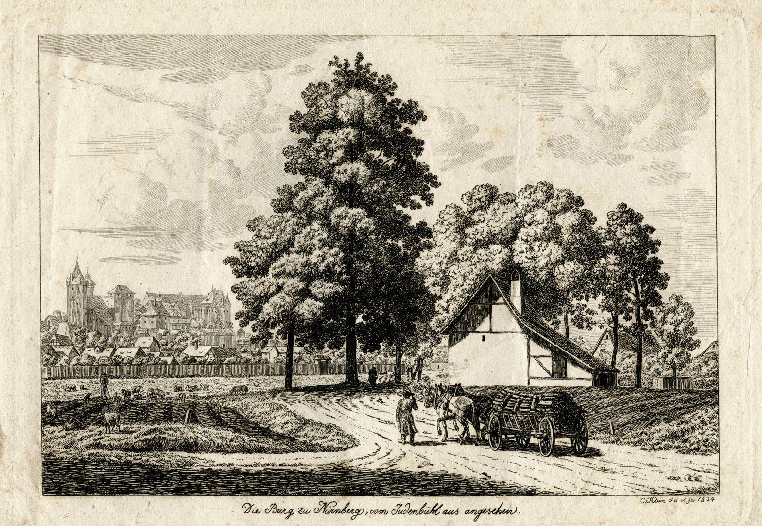 Die Burg zu Nürnberg, vom Judenbühl aus angesehen Gesamtansicht