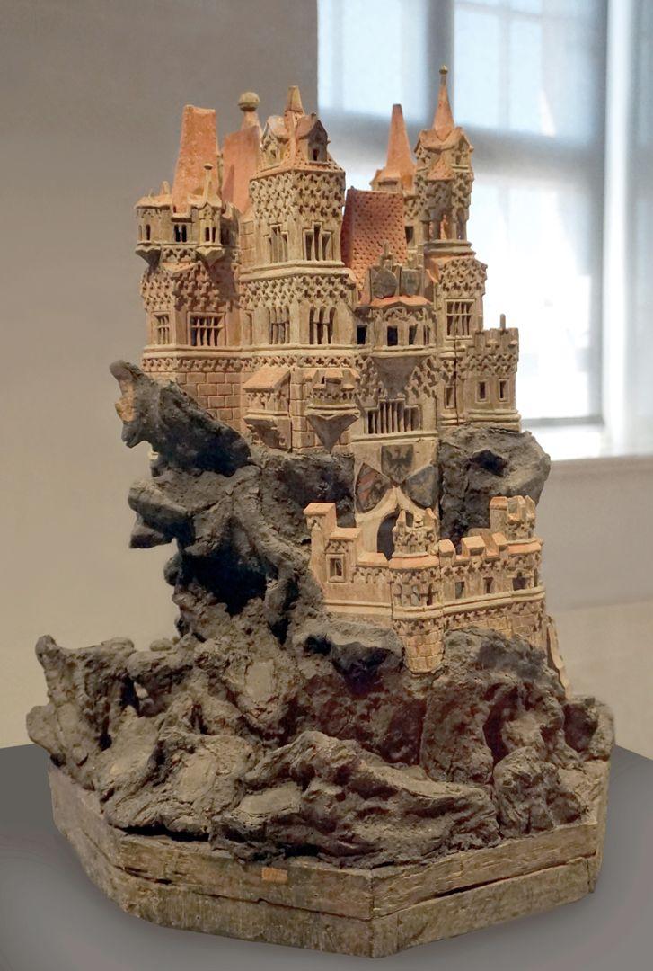 Modell einer Ritterburg Gesamtansicht