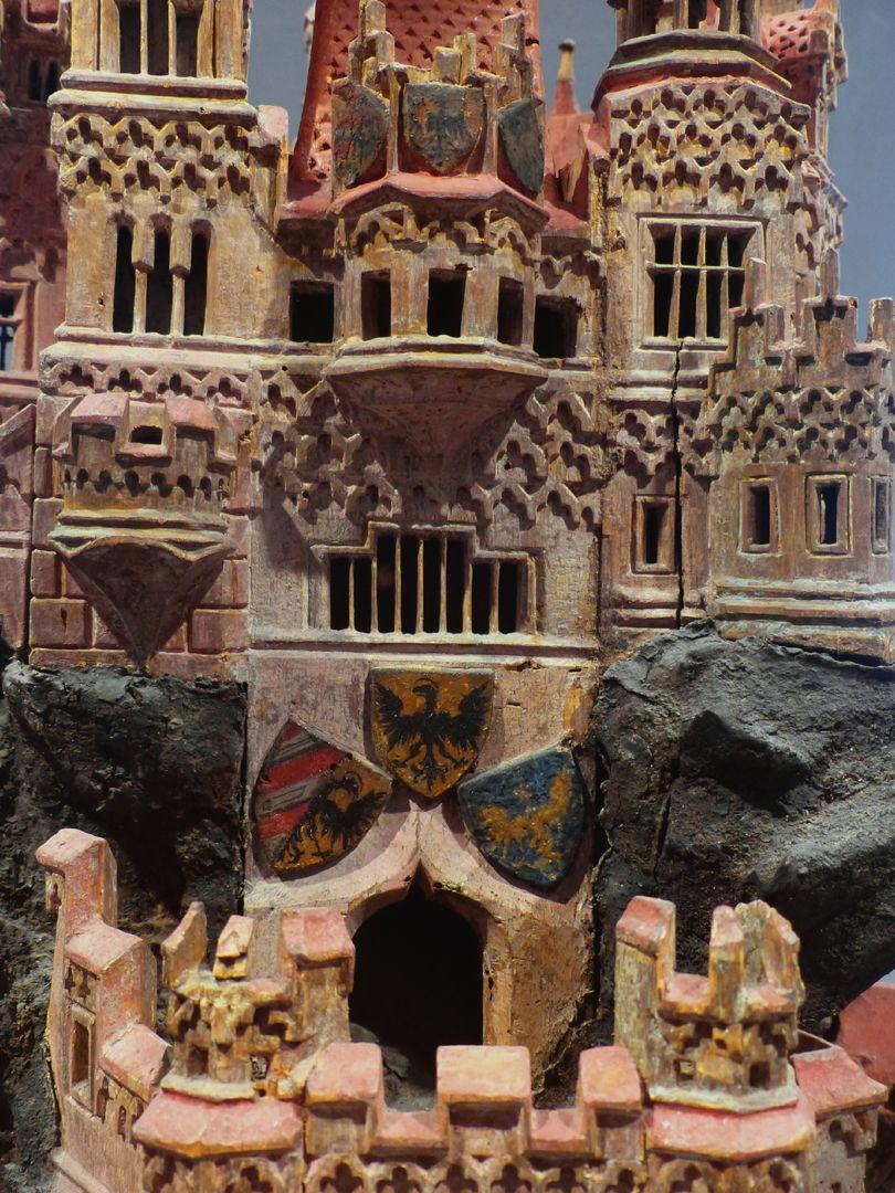 Modell einer Ritterburg Haupteingang mit Nürnberger Wappendreiverein