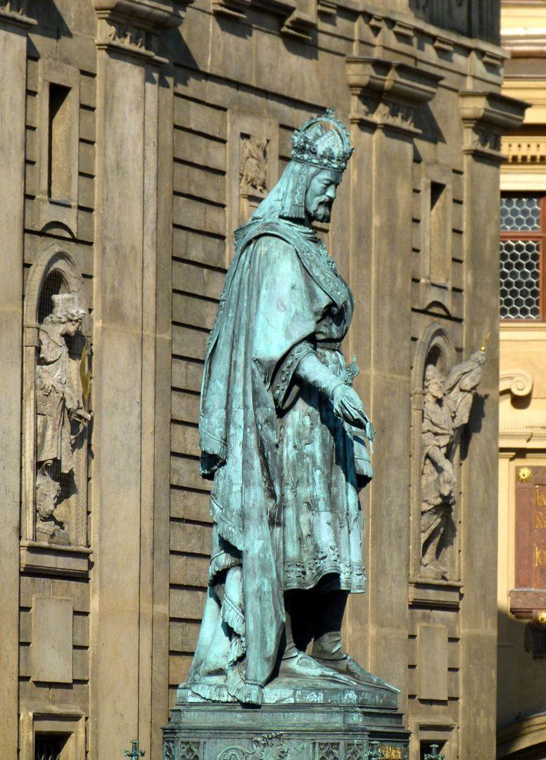 Denkmal Karl IV. (Prag) Standbild des Kaisers