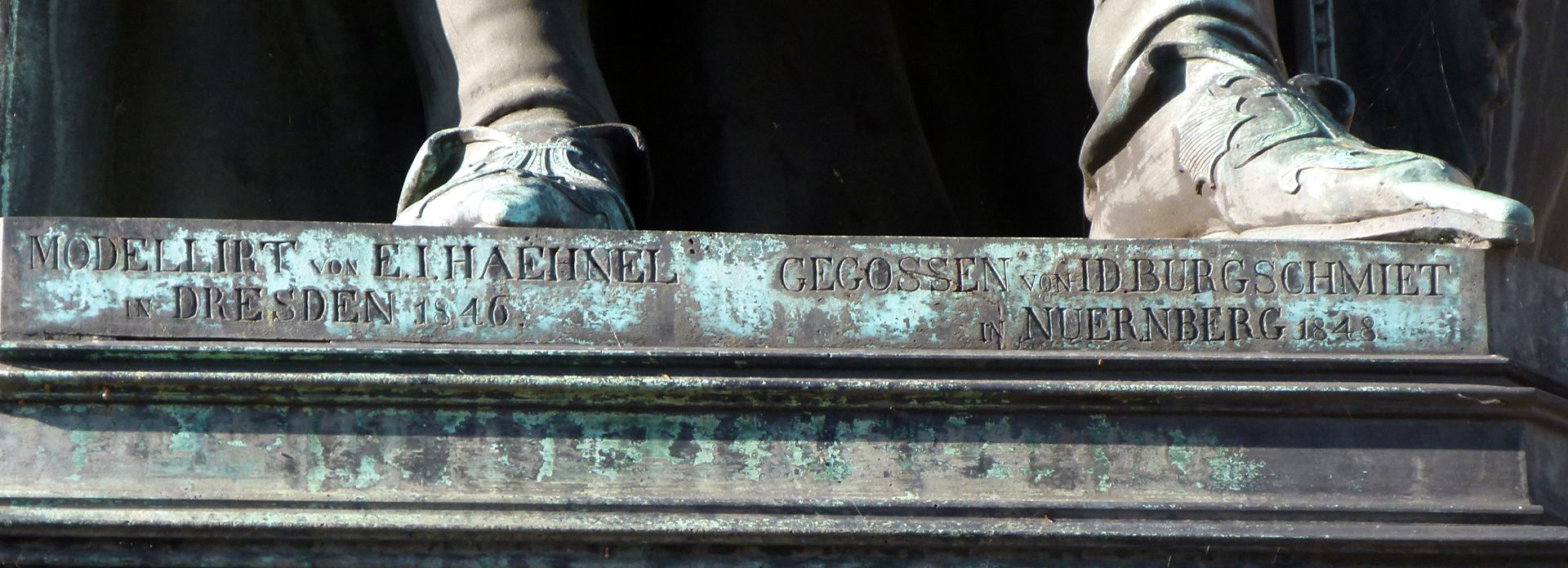 Denkmal Karl IV. (Prag) Inschrift