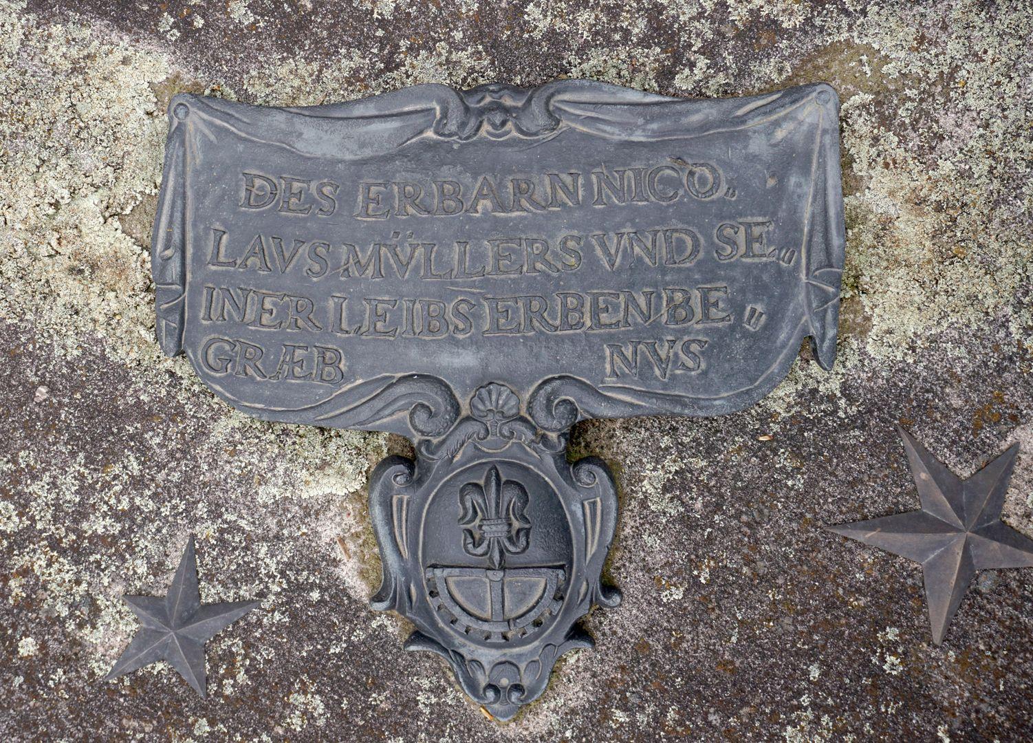 Carlos Pascual Grabstätte Historische Epitaphtafel von Nicolaus Müller (um 1600)