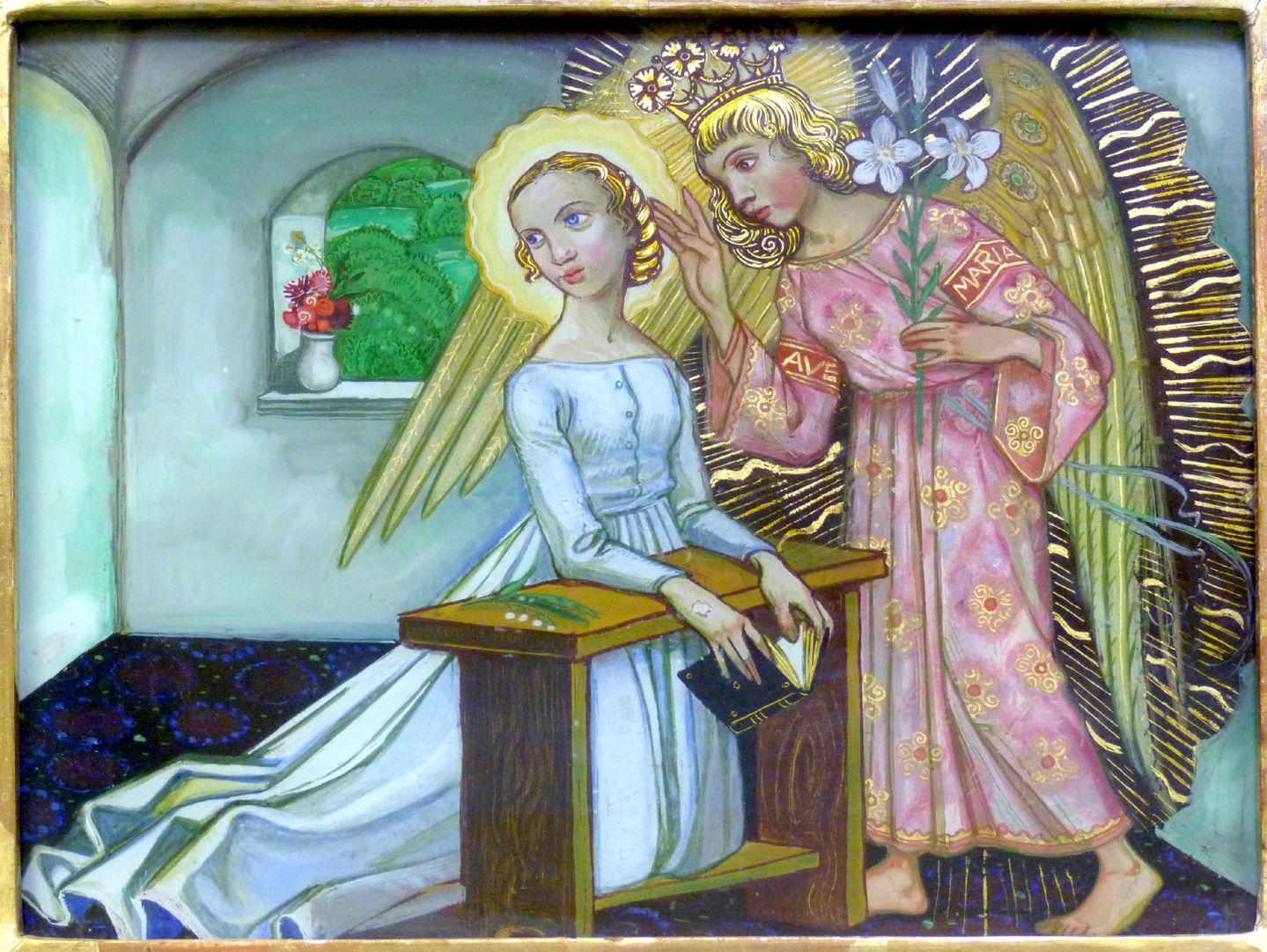Verkündigung an Maria Fürchte dich nicht, Maria, du hast Gnade bei Gott gefunden. Siehe, du wirst schwanger werden und einen Sohn gebären, und du sollst ihm den Namen Jesus geben. LK 1,30-31