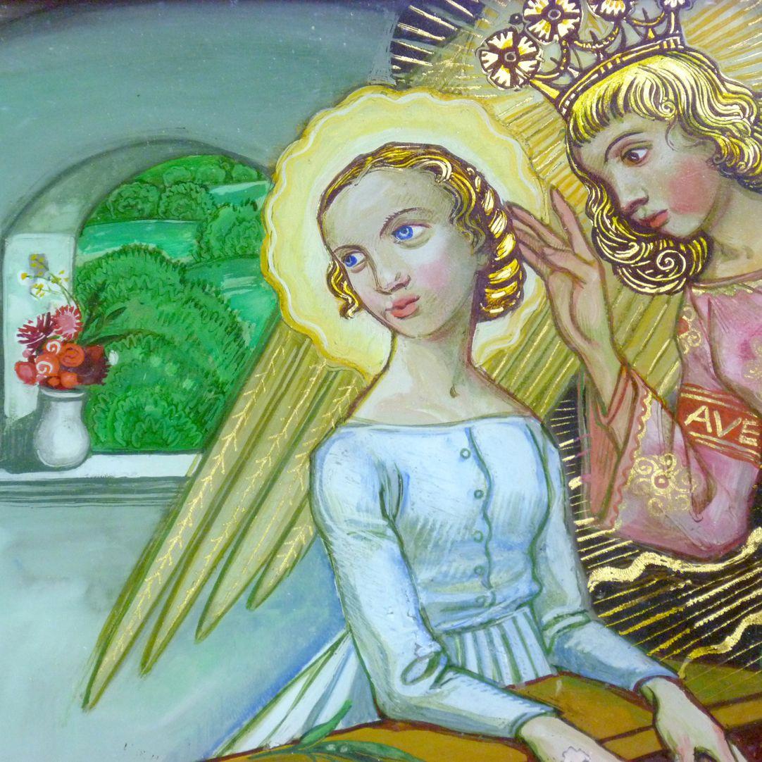 Verkündigung an Maria Detailansicht mit Fenster