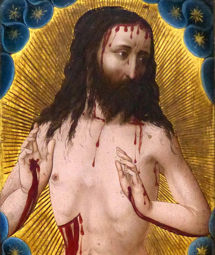 Christus als Schmerzensmann (Basel) Detailansicht