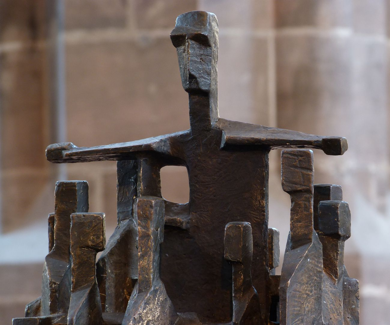 """""""Christus mitten unter uns"""" Schrägansicht, Detail"""