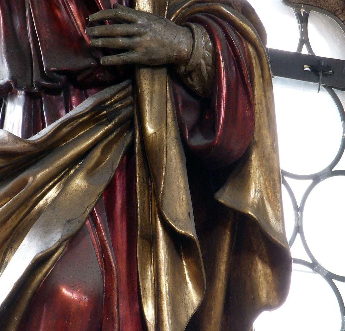 Christus Detail mit Gewandfaltung
