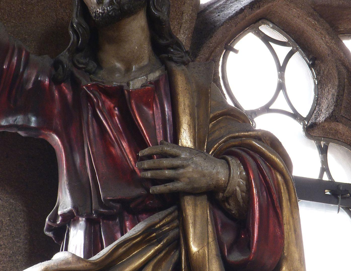 Christus Detail, Oberkörper und angewinkelter linker Arm