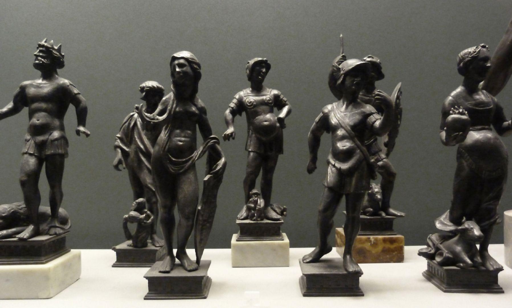 Planetenallegorien (Gruppe von sieben Figurinen) Gruppe der Figurinen