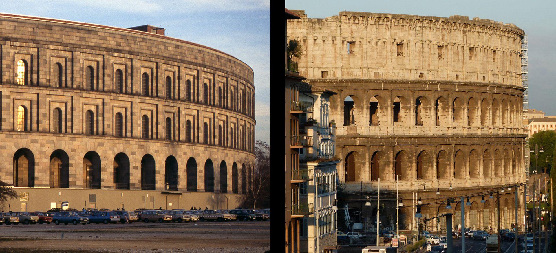 Kongresshalle und Kolosseum im Vergleich Kongresshalle und Coloseum im Vergleich