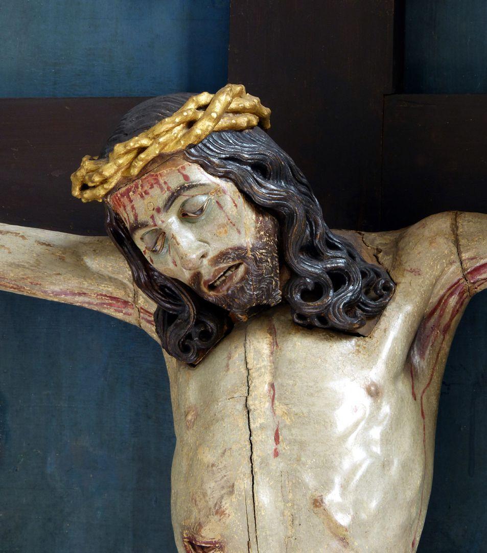 Hochaltar der Johanneskirche (Crailsheim) Schrein, Christus, Büste