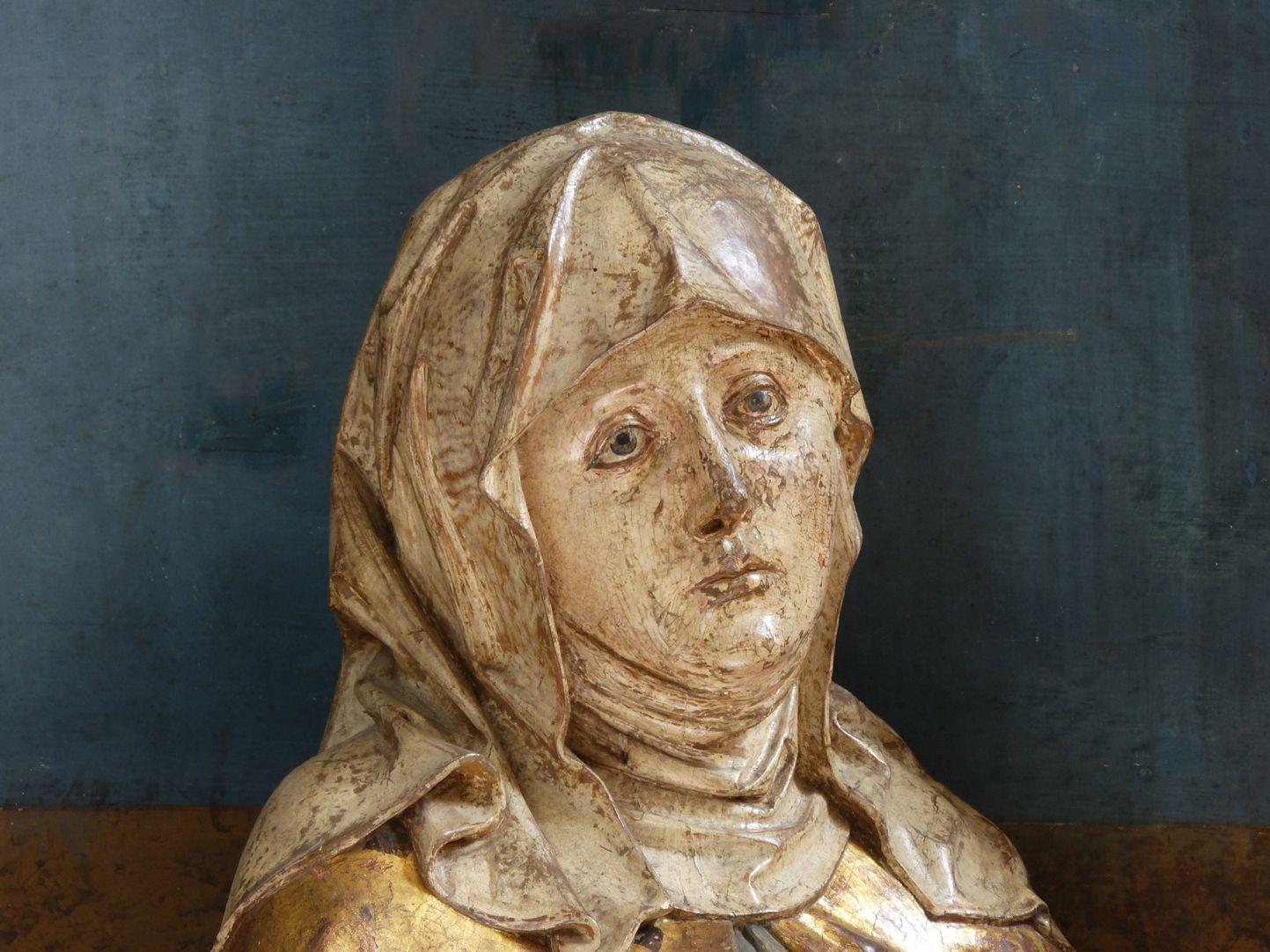 Hochaltar der Johanneskirche (Crailsheim) Schrein, Maria , Kopf