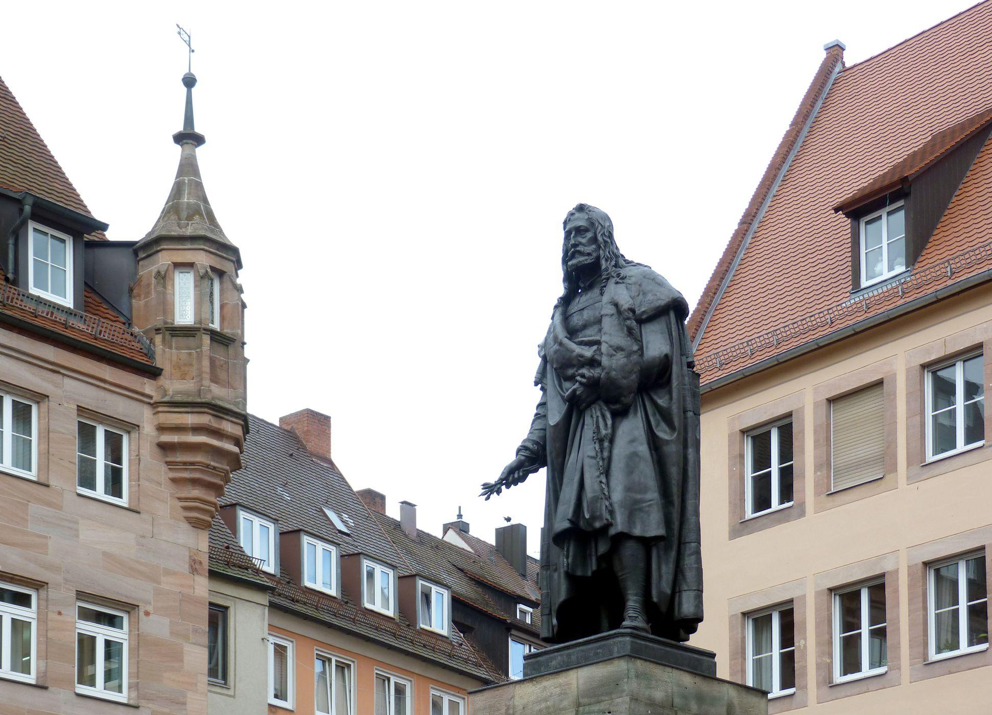 Albrecht-Dürer-Denkmal Schrägansicht Südost