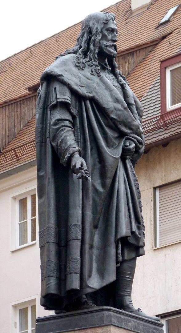 Albrecht-Dürer-Denkmal Schrägansicht Südwest