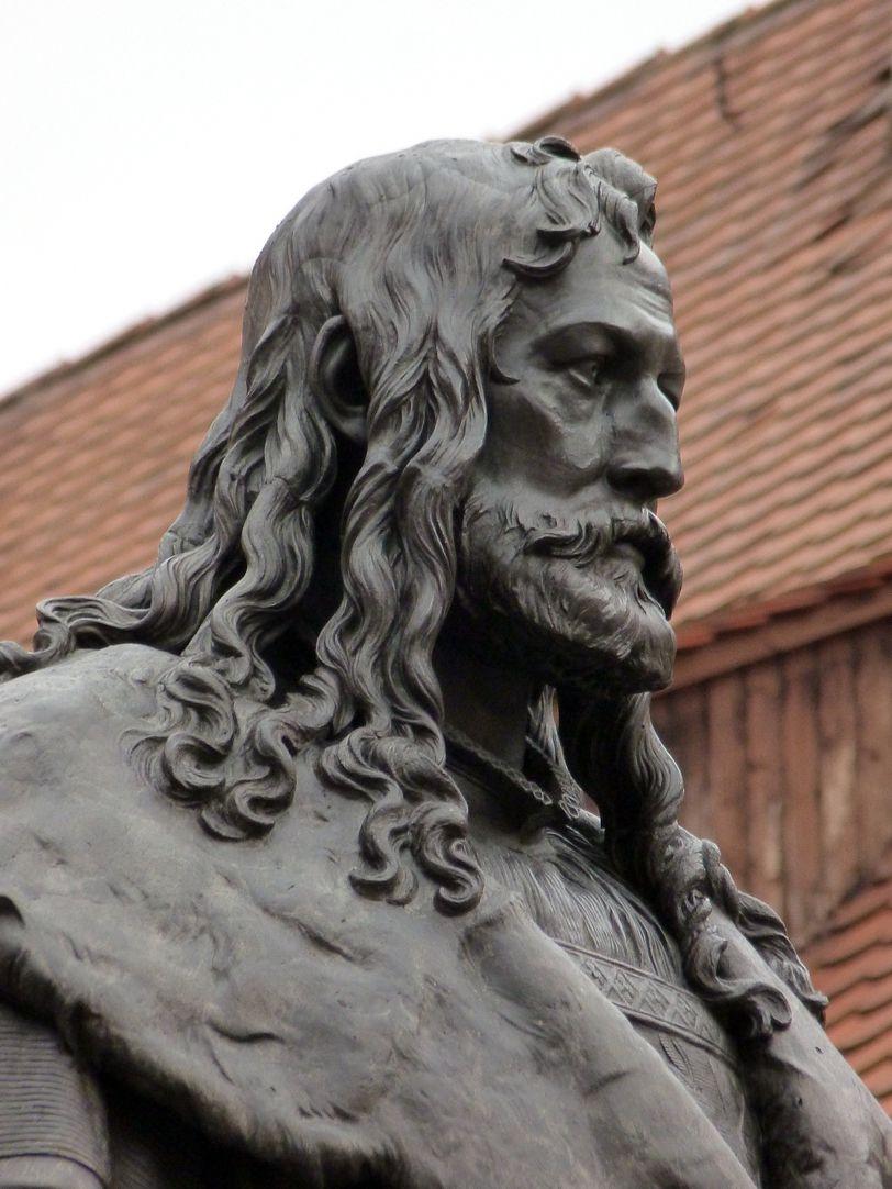 Albrecht-Dürer-Denkmal Kopf von Südwest
