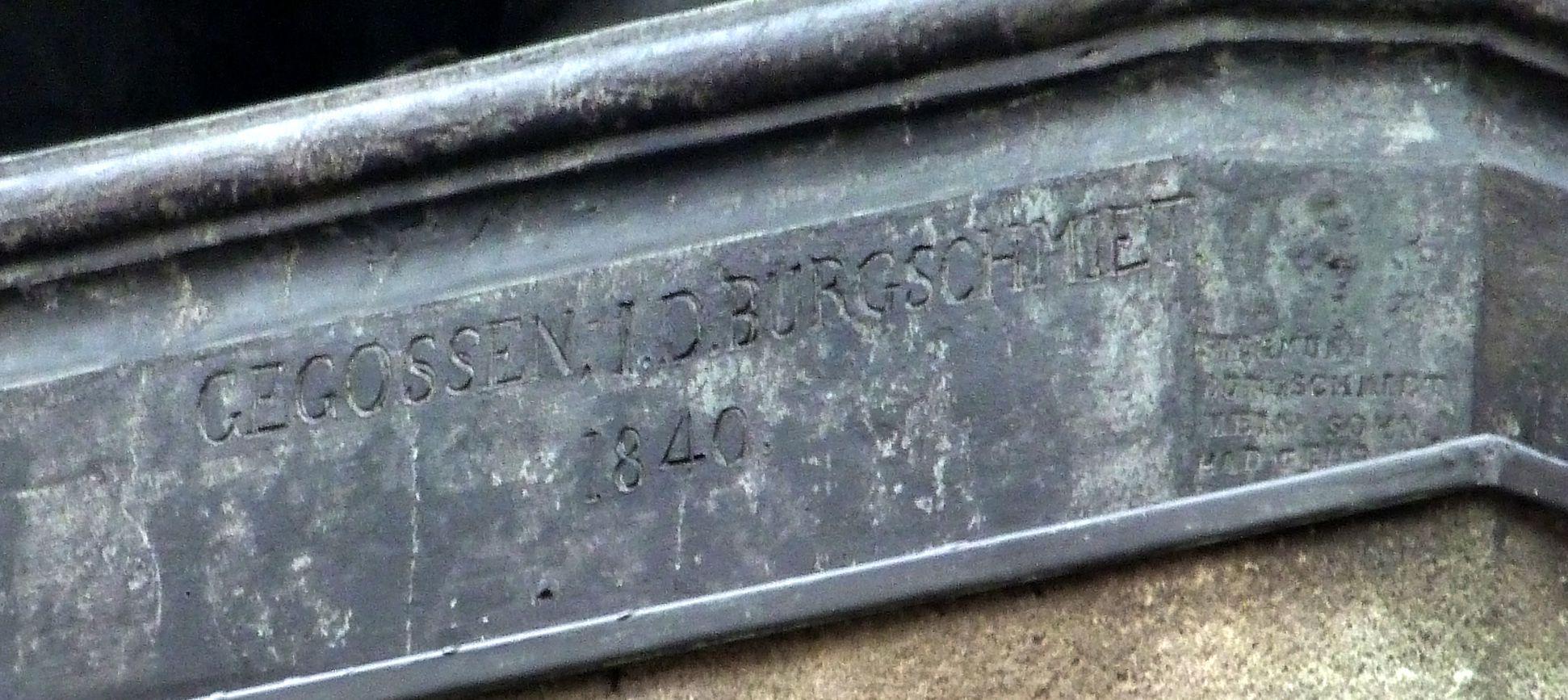 Albrecht-Dürer-Denkmal Signatur Burgschmiet