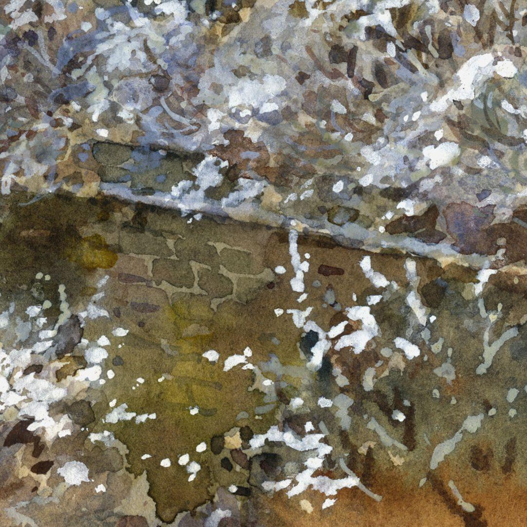 Winterliche Burg Detail