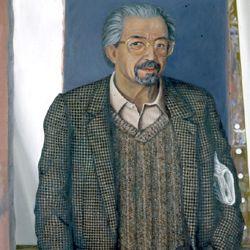 Porträt des Dr. Gerhard Mammel im Atelier