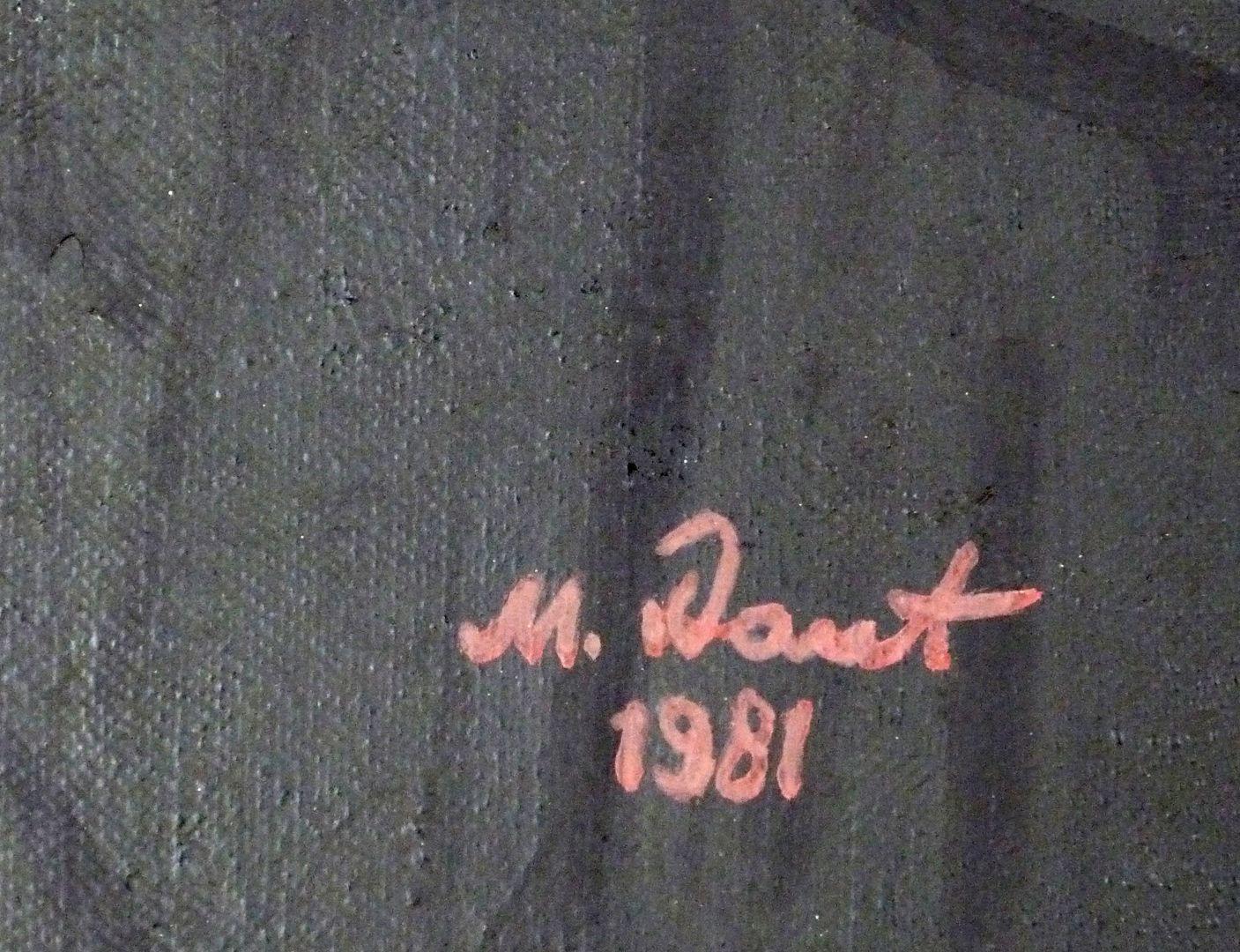 Poet Schramm Signatur am rechten unteren Bildrand