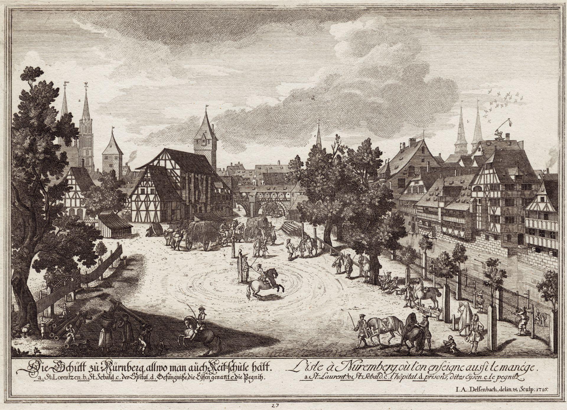 Die Schütt zu Nürnberg allwo man auch Reitschule hält Gesamtansicht