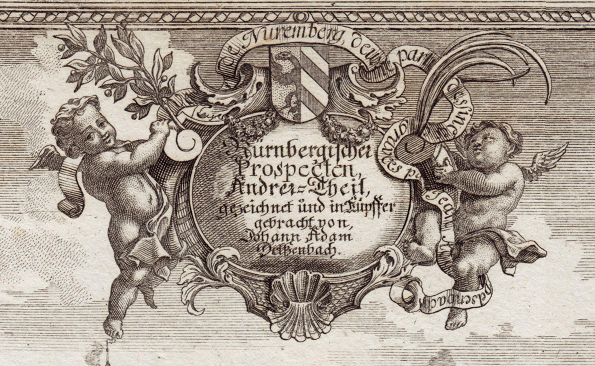 Nürnberg Prospecten Anderer = Theil Kartusche mit Titel