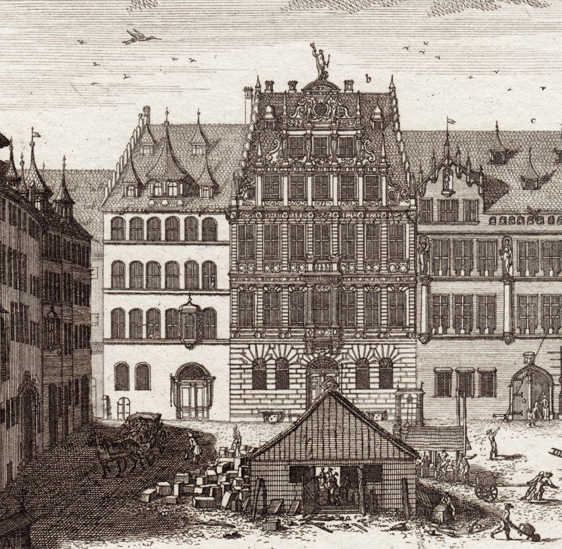 Prospect des Platzes der Dilling-hof genannt zu Nürnberg Detail der Nordseite