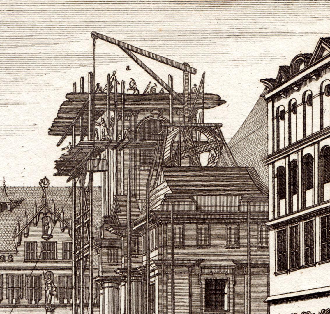 Prospect des Platzes der Dilling-hof genannt zu Nürnberg Detail der Gerüste an der Egidienkirche