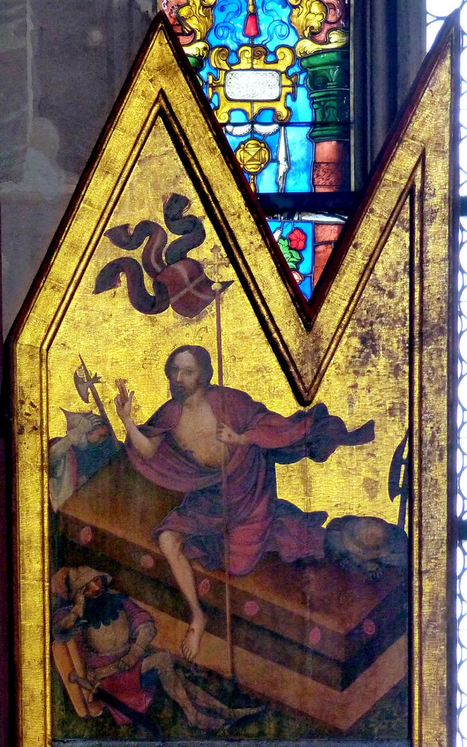 Deocarusaltar rechter Schreinflügel, Auferstehung Christi