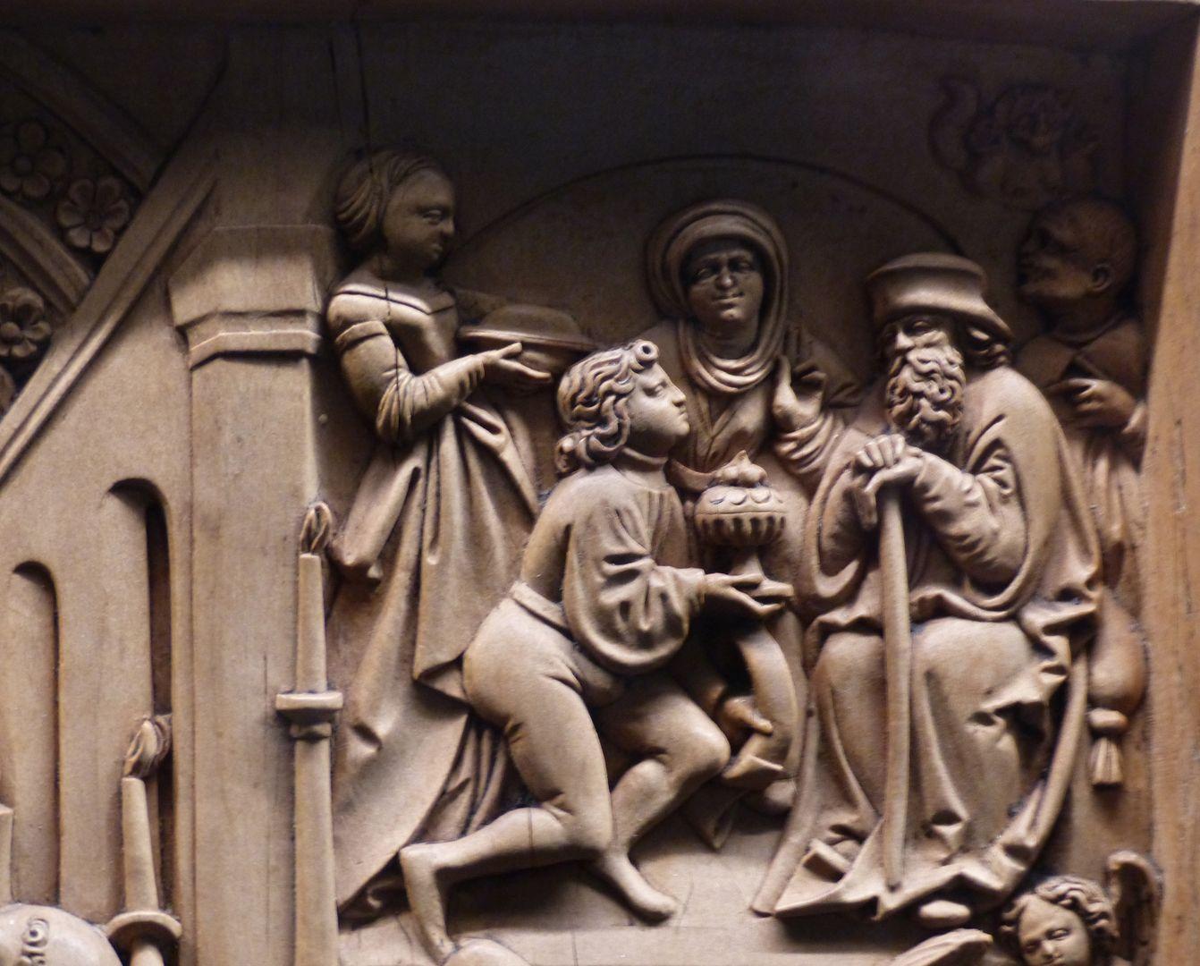 Die Zehn Gebote Detail: Das vierte Gebot: Du sollst deinen Vater und deine Mutter ehren.