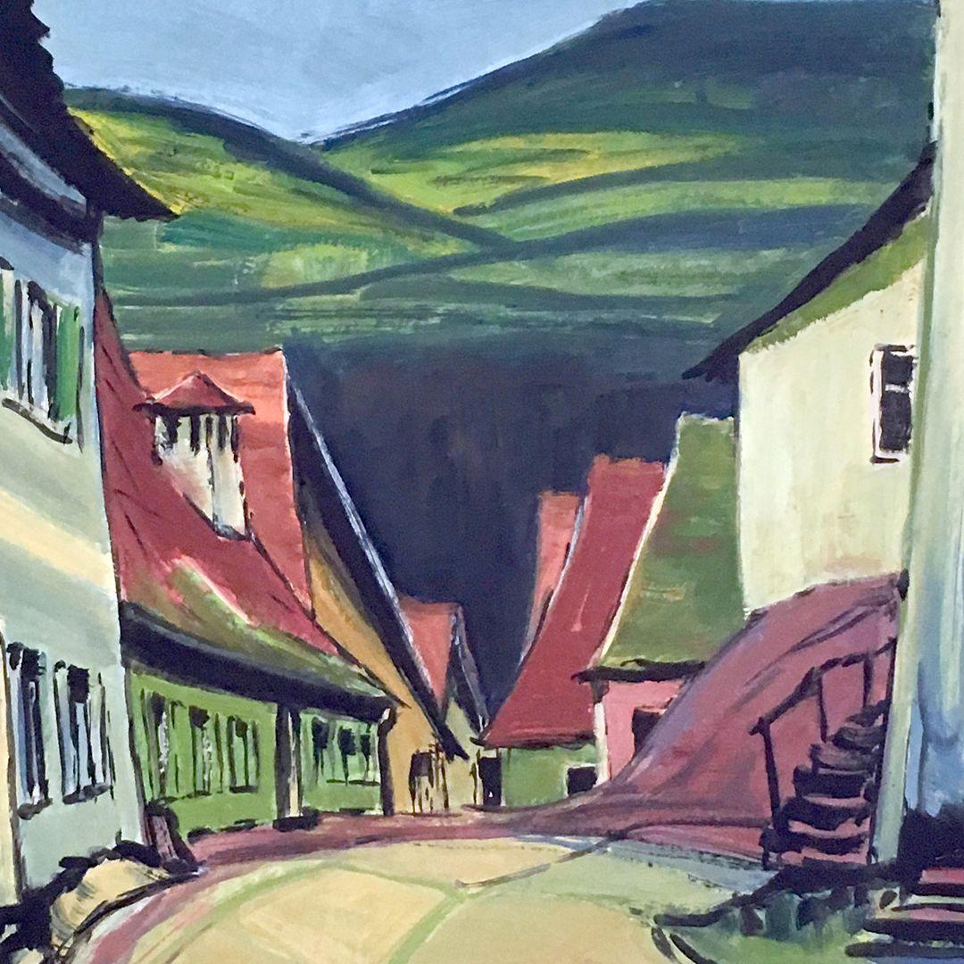 Dorfstraße Detailansicht, Bildmitte