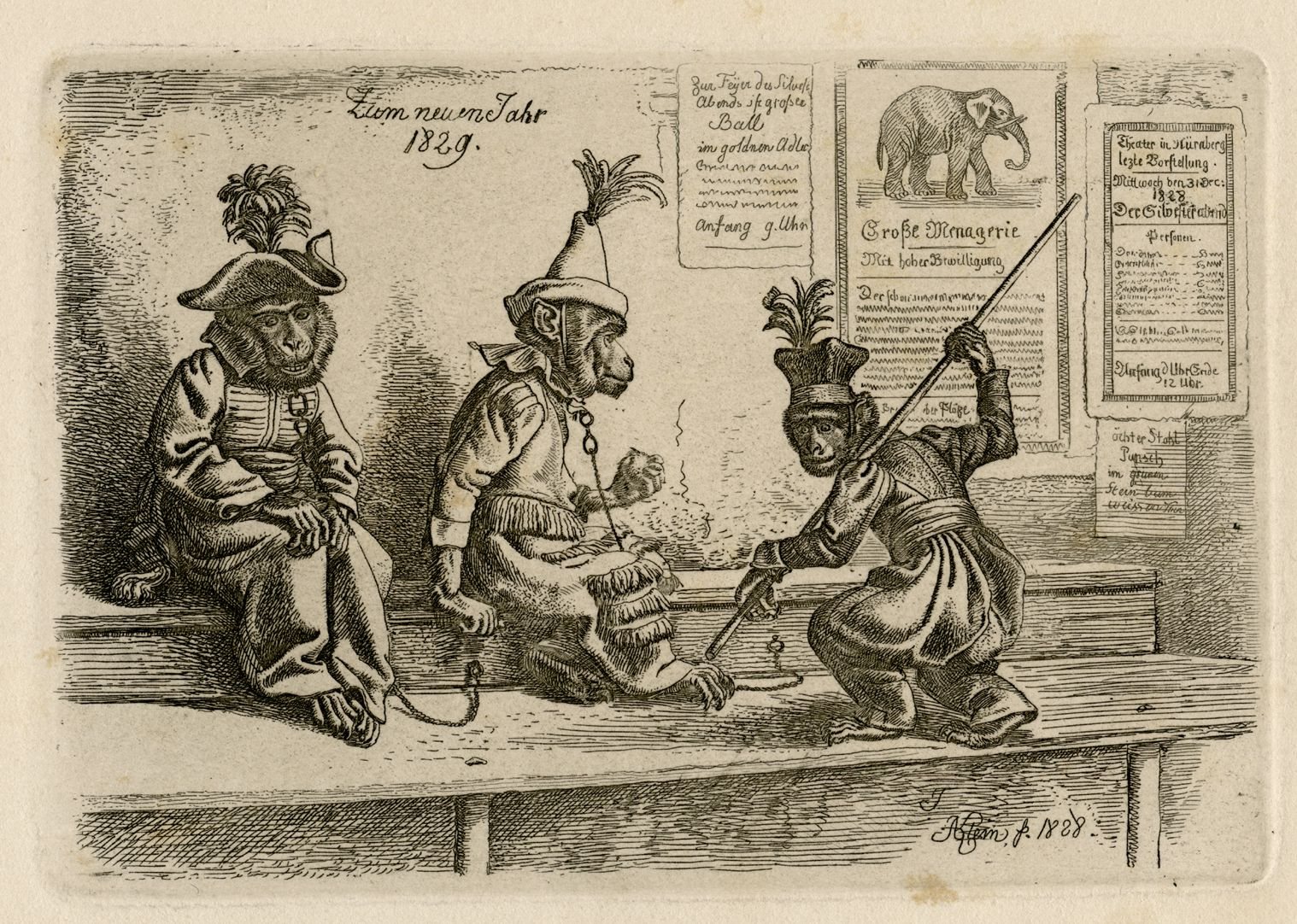 Drei Affen Gesamtansicht