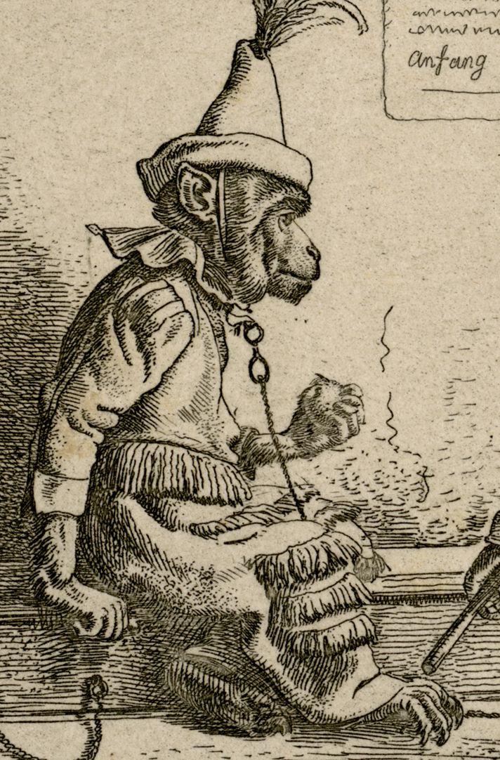 Drei Affen Detail