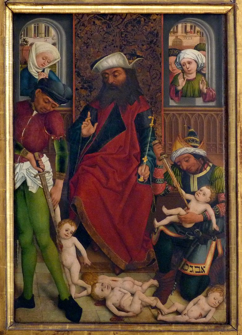 Dreikönigsaltar rechter Seitenflügel, unten: Bethlehemitischer Kindermord