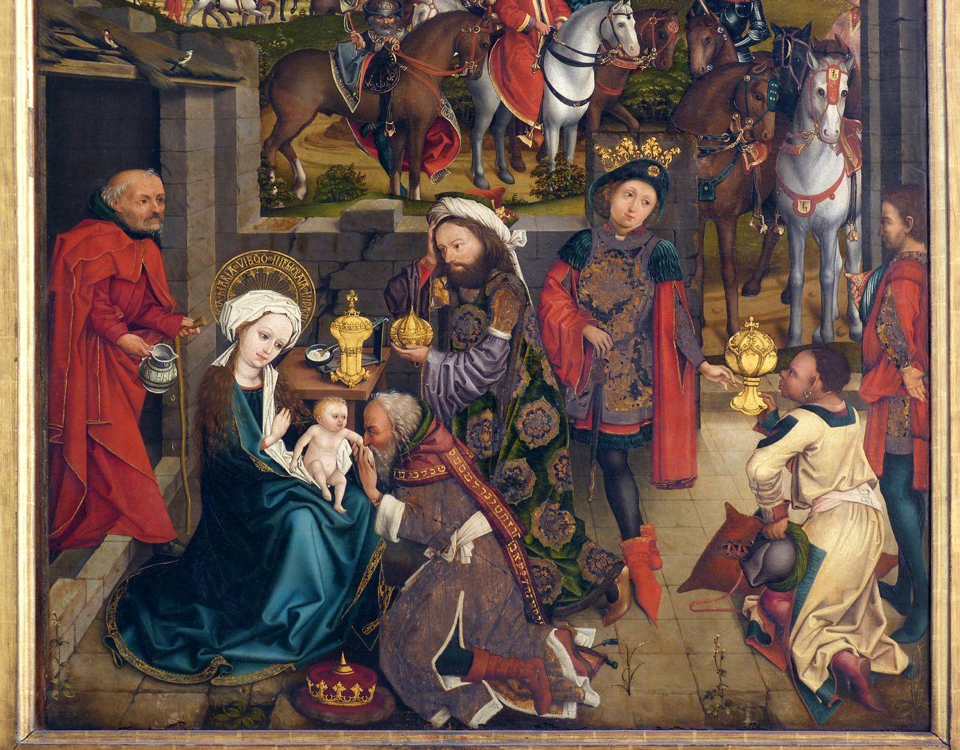 Dreikönigsaltar Szene der Anbetung