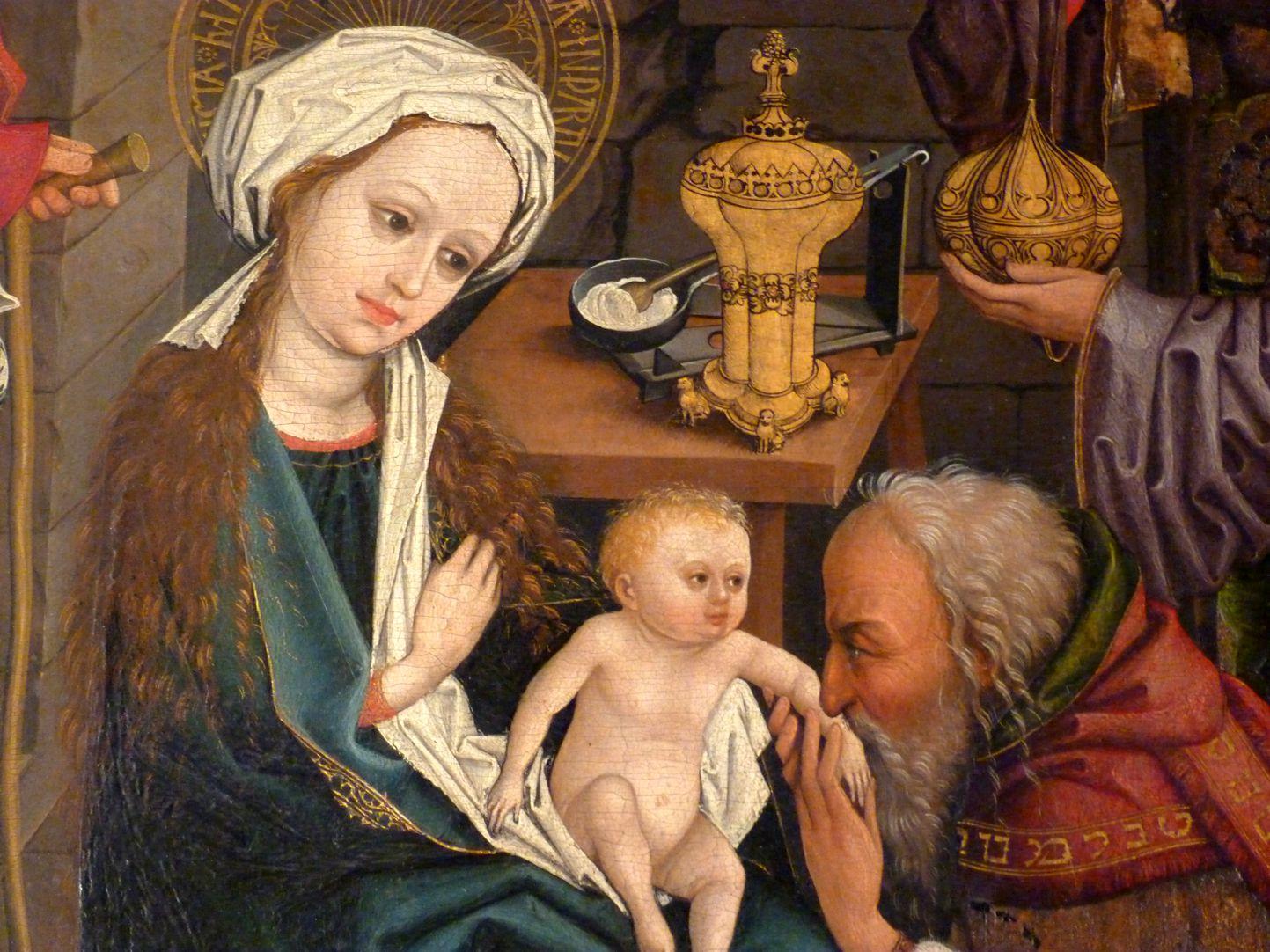 Dreikönigsaltar Maria, Jesuskind und Balthasar